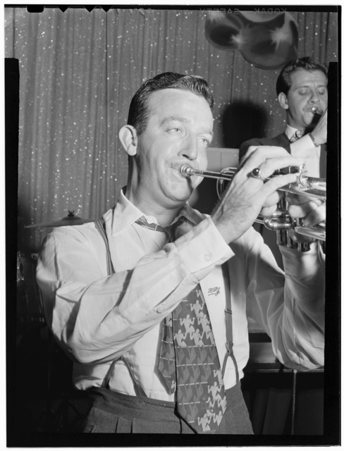 [Portrait of Harry James, Coca Cola radio show rehearsal, New York, N.Y., between 1946 and 1948]