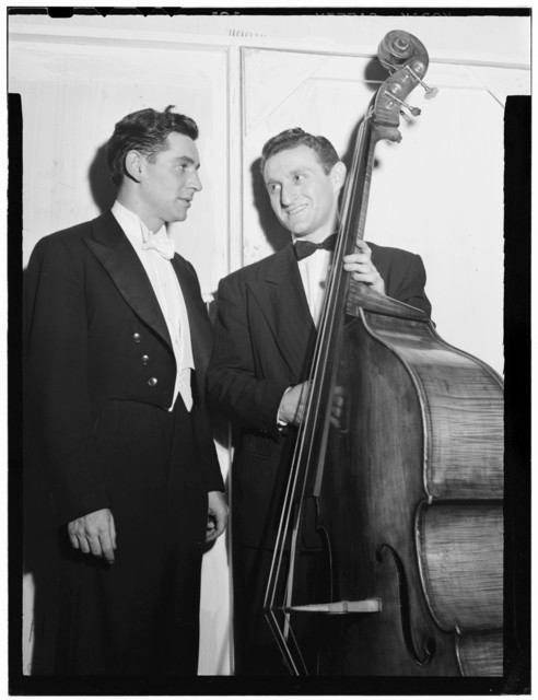 [Portrait of Jack Lesberg and Leonard Bernstein, New York, N.Y., ca. Dec. 1946]