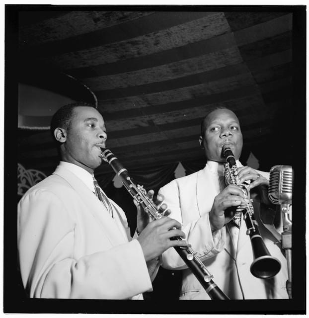 [Portrait of Jimmy Hamilton and Harry Carney, Aquarium, New York, N.Y., ca. Nov. 1946]