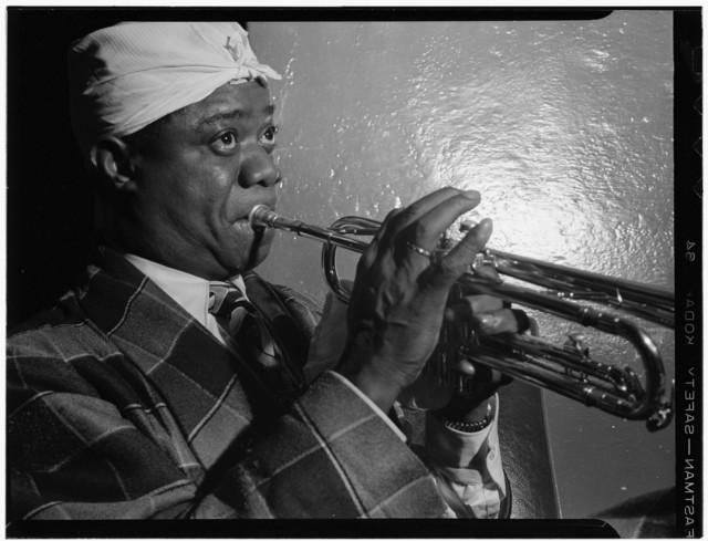 [Portrait of Louis Armstrong, Aquarium, New York, N.Y., ca. July 1946]