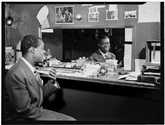 [Portrait of Louis Armstrong, Aquarium, New York, N.Y., ca. July 1946]