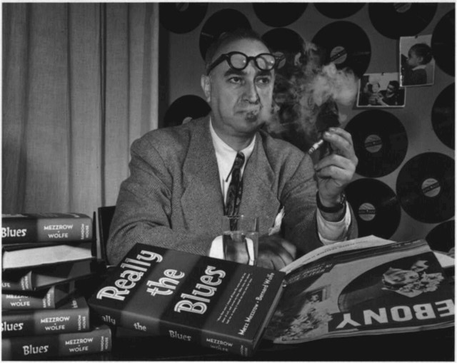 [Portrait of Mezz Mezzrow in his office, New York, N.Y., ca. Nov. 1946]