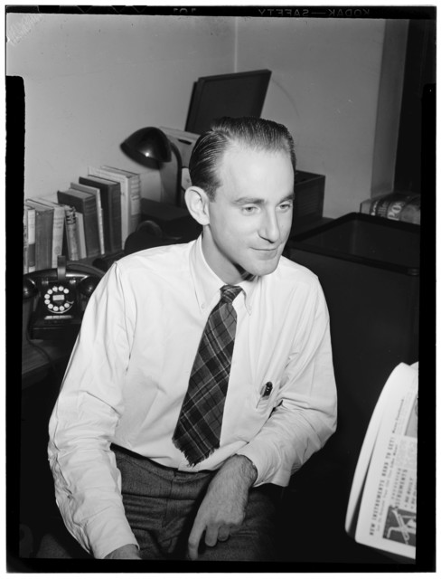 [Portrait of Mike Levin, Down Beat office, New York, N.Y., between 1946 and 1948]