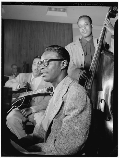 [Portrait of Oscar Moore, Nat King Cole, and Wesley Prince, New York, N.Y., ca. July 1946]