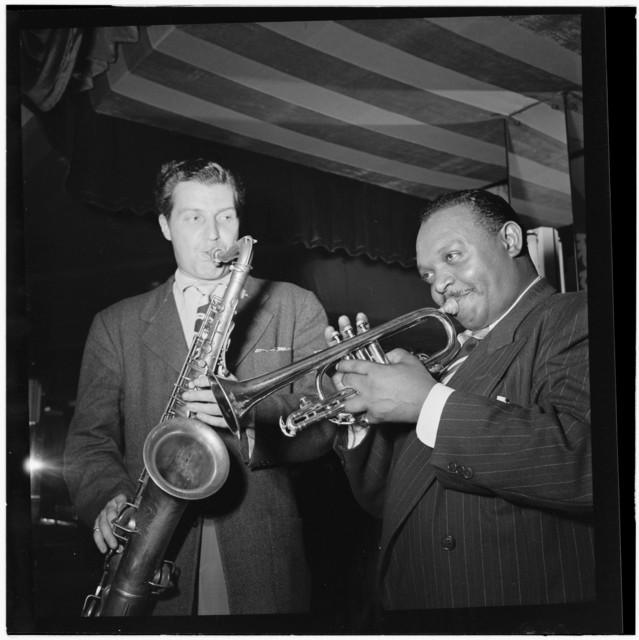 [Portrait of Rex William Stewart and Charlie Barnet, Aquarium, New York, N.Y., ca. Aug. 1946]
