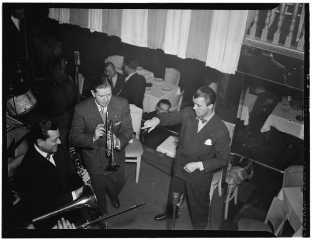 [Portrait of Tony Parenti, Wild Bill Davison, and Eddie Condon, Eddie Condon's, New York, N.Y., ca. June 1946]