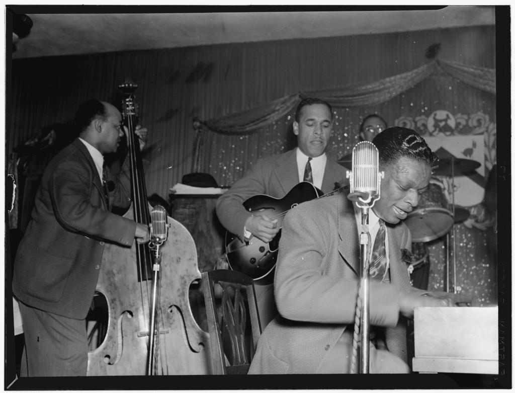 [Portrait of Wesley Prince, Oscar Moore, and Nat King Cole, Zanzibar, New York, N.Y., ca. July 1946]