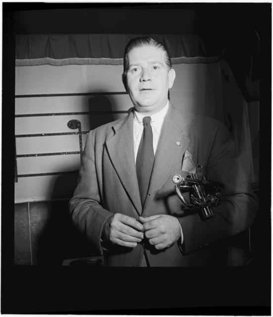 [Portrait of Wild Bill Davison, Club Nocturne(?), New York, N.Y., ca. Aug. 1946]