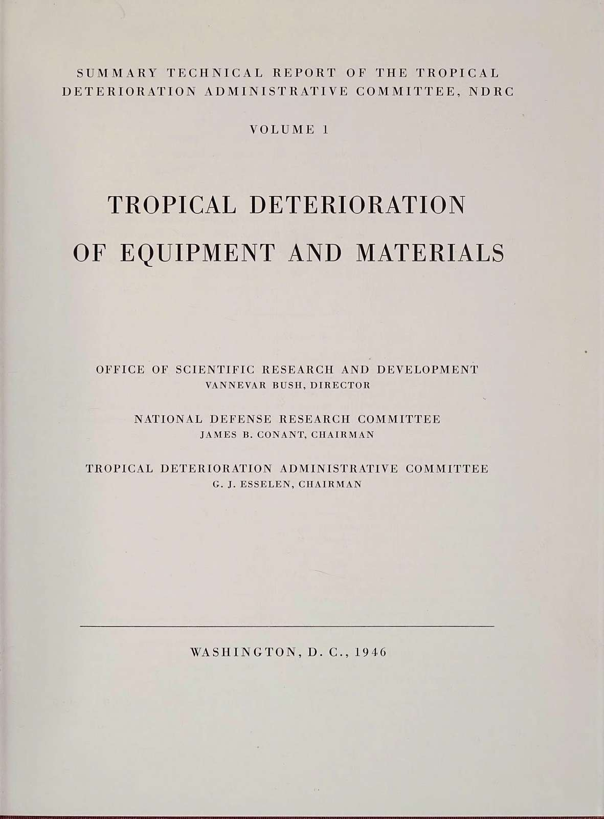 Tropical deterioration of equipment and materials