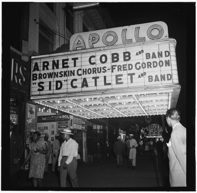 [View of the Apollo Theatre marquee, New York, N.Y., between 1946 and 1948]