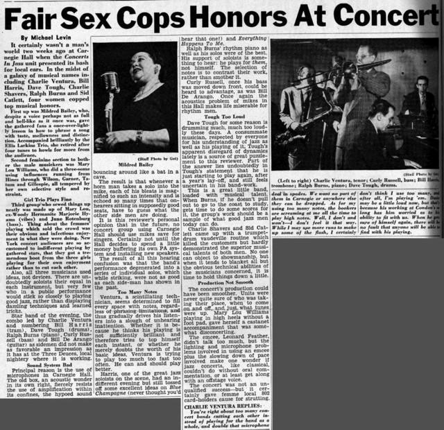 Fair Sex Cops Honors at Concert