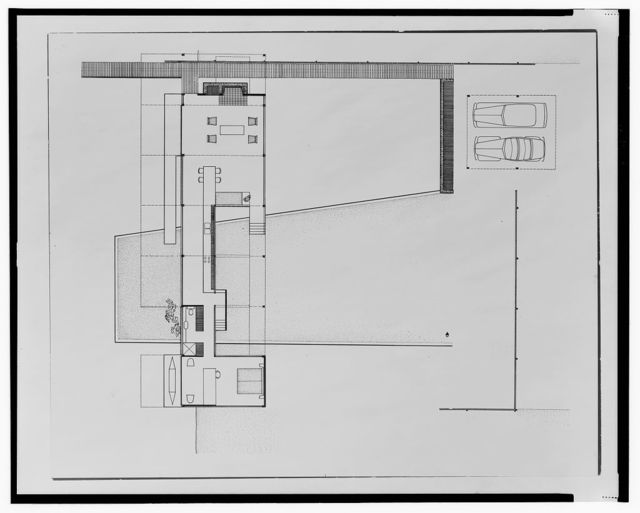 [Finney guest house, Siesta Key, Florida (project). Plan]