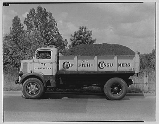 Griffith Consumers Co. Truck of Griffith Consumers Co. loaded with coal