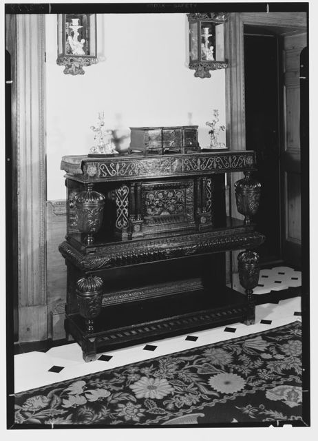 Judge Erwin Untermyer, residence at 960 5th Ave., New York City. Cabinet
