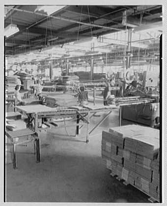 Mengel Company, Fulton, New York. Interior, general view