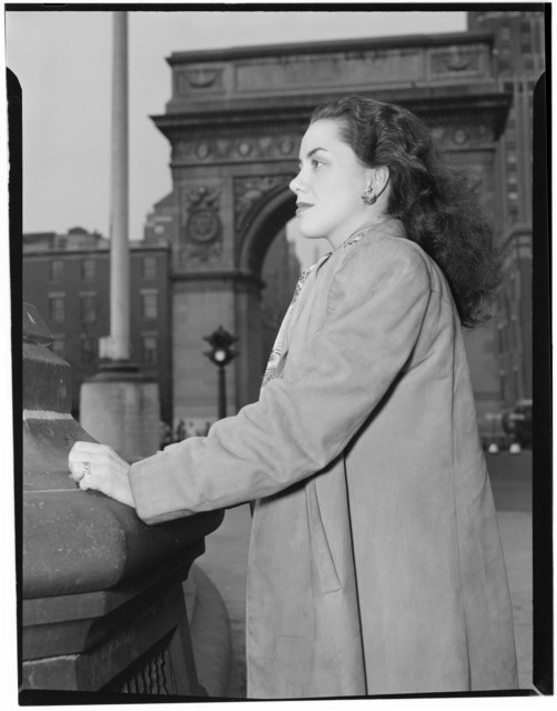 [Portrait of Ann Hathaway, Washington Square, New York, N.Y., ca. May 1947]