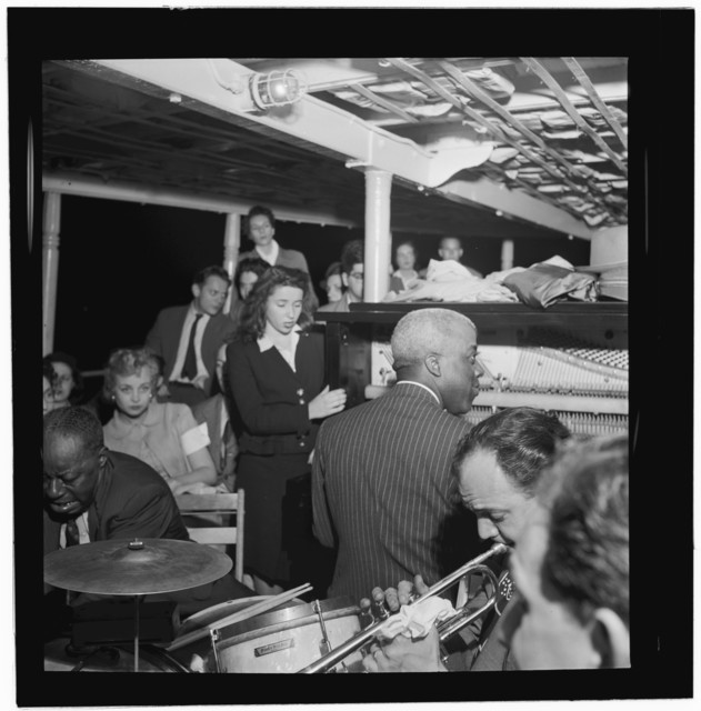 [Portrait of Baby Dodds and Marty Marsala, Riverboat on the Hudson, N.Y., ca. July 1947]