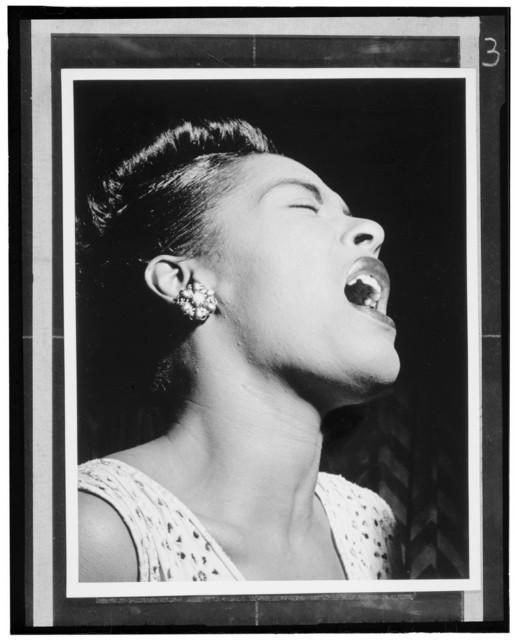 [Portrait of Billie Holiday, Downbeat, New York, N.Y., ca. Feb. 1947]