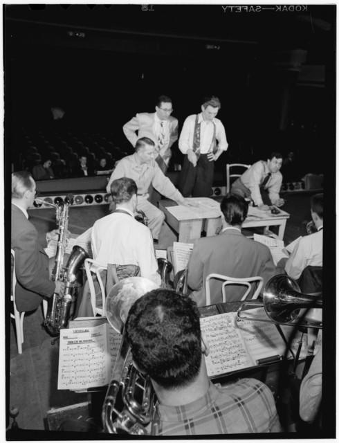 [Portrait of Bob Graettinger, Pete Rugolo, and Stan Kenton, Richmond, Va.(?), 1947 or 1948]
