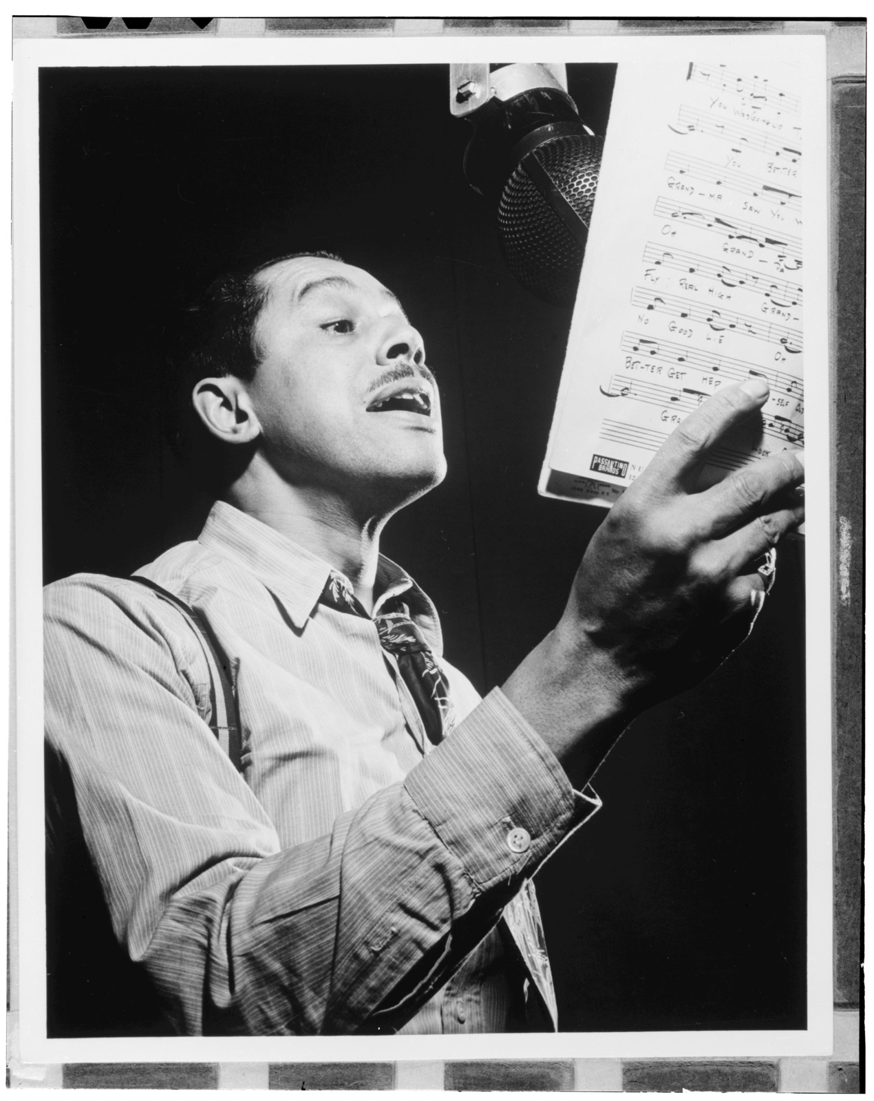 [Portrait of Cab Calloway, Columbia studio, New York, N.Y., ca. Mar. 1947]