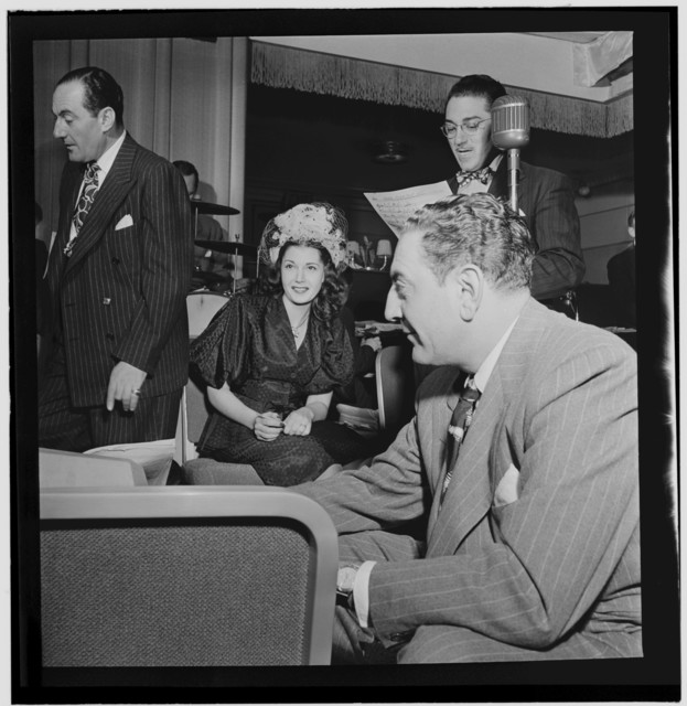 [Portrait of Carmen Lombardo, Rose Marie Lombardo, Guy Lombardo, and Don Rodney, Starlight Roof, Waldorf-Astoria, New York, N.Y., ca. July 1947]