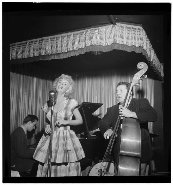 [Portrait of Chubby Jackson and Dottie Reid, Onyx, New York, N.Y., ca. July 1947]