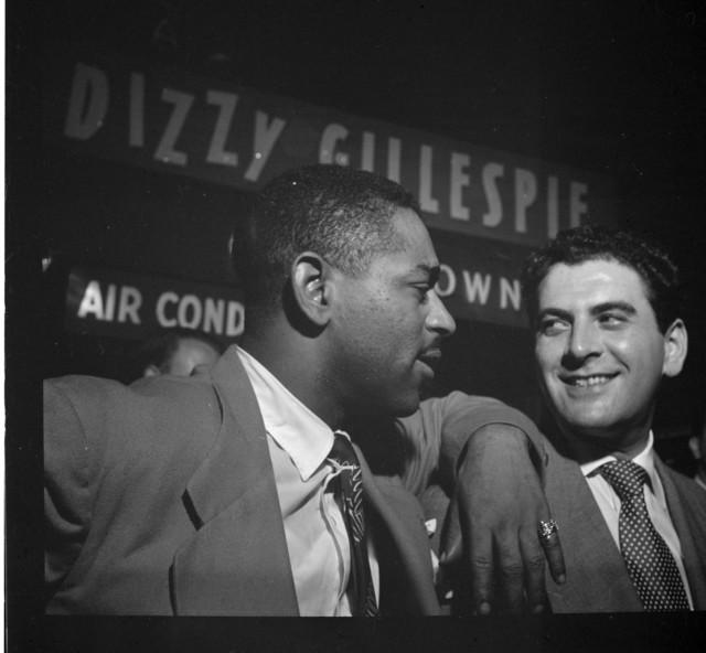 [Portrait of Dizzy Gillespie and Georgie Auld, Downbeat, New York, N.Y., ca. Aug. 1947]
