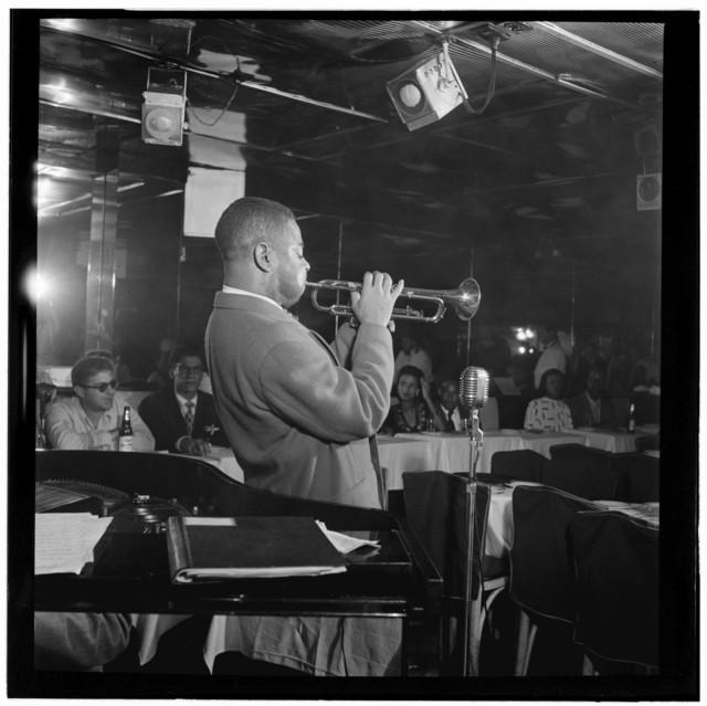 [Portrait of Dizzy Gillespie, Downbeat, New York, N.Y., ca. Aug. 1947]