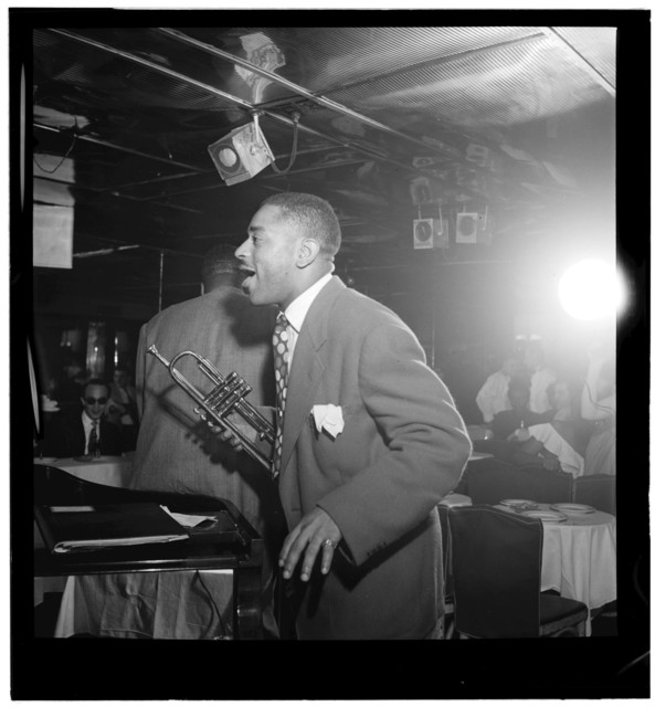 [Portrait of Dizzy Gillespie, Downbeat, New York, N.Y., ca. Aug. 1947]