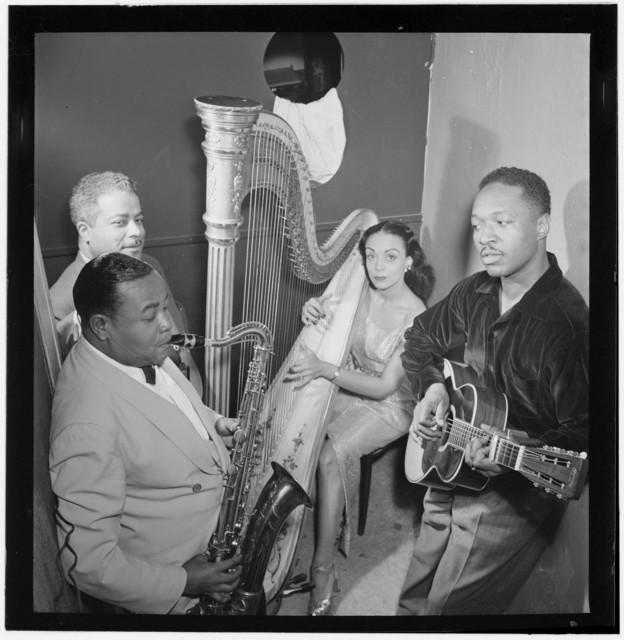 [Portrait of Gene Sedric, Cliff Jackson, Olivette Miller, and Josh White, Café Society (Downtown), New York, N.Y., ca. Mar. 1947]