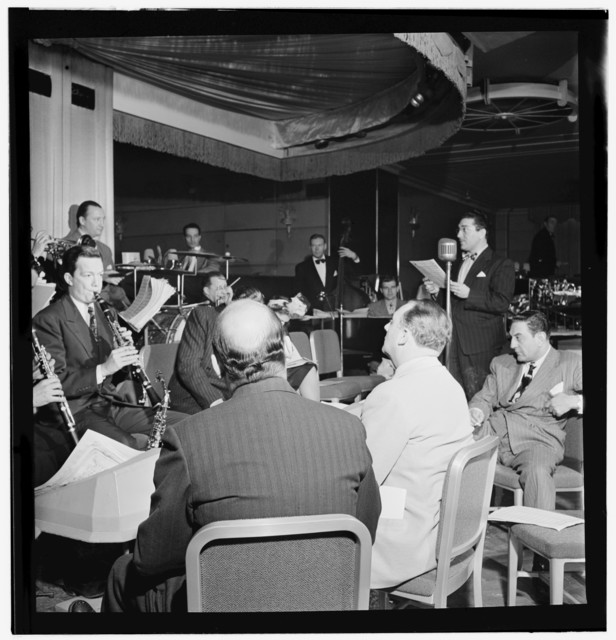 [Portrait of Guy Lombardo and Don Rodney, Starlight Roof, Waldorf-Astoria, New York, N.Y., ca. July 1947]