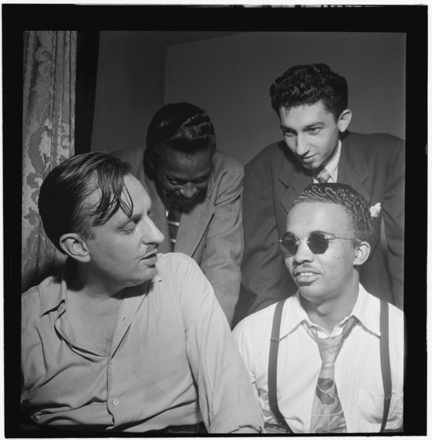 [Portrait of Howard McGhee, Brick Fleagle, and Miles Davis, New York, N.Y., ca. Sept. 1947]