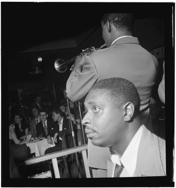 [Portrait of Jimmy Jones and Joe Thomas(?), Pied Piper, New York, N.Y., ca. Sept. 1947]