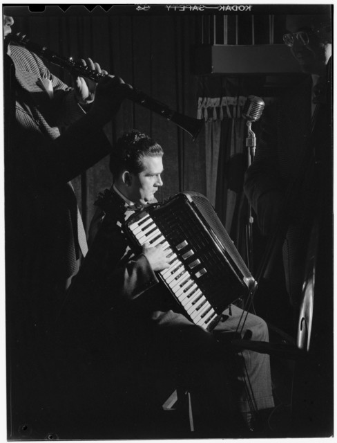 [Portrait of Joe Mooney and Andy Fitzgerald, Eddie Condon's, New York, N.Y., ca. June 1947]