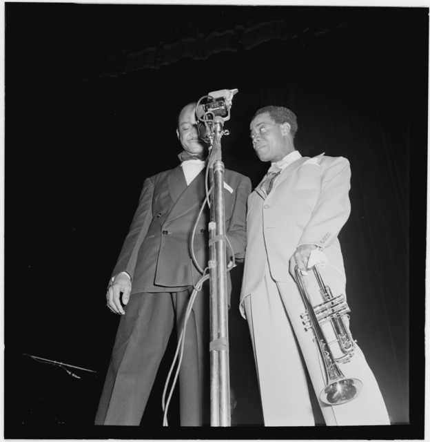 [Portrait of Louis Armstrong, Carnegie Hall, New York, N.Y., ca. Feb. 1947]