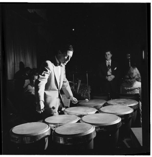[Portrait of Paul Kashian, Mundell Lowe, Ray McKinley, Chris Adams, and Teddy Norman, Hotel Commodore, Century Room, New York, N.Y., ca. Jan. 1947]