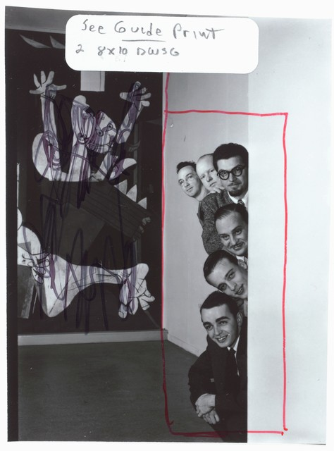 [Portrait of Ralph Burns, Edwin A. Finckel, George Handy, Neal Hefti, Johnny Richards, and Eddie Sauter, Museum of Modern Art, New York, N.Y., ca. Mar. 1947]