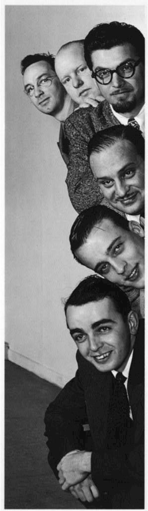 [Portrait of Ralph Burns, Edwin A. Finckel, George Handy, Neal Hefti, Johnny Richards, and Eddie Sauter, Museum of Modern Art, New York, N.Y., ca. Mar. 1947]