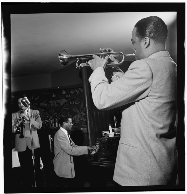 [Portrait of (Scoville) Toby Browne, Kenny Kersey, and Buck Clayton, Café Society (Downtown), New York, N.Y., ca. June 1947]