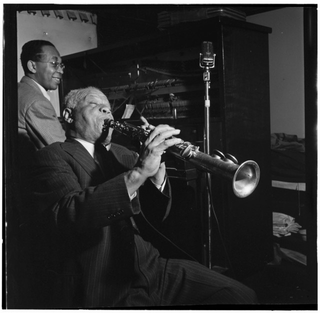 [Portrait of Sidney Bechet and Lloyd Phillips, Jimmy Ryan's (Club), New York, N.Y., ca. June 1947]