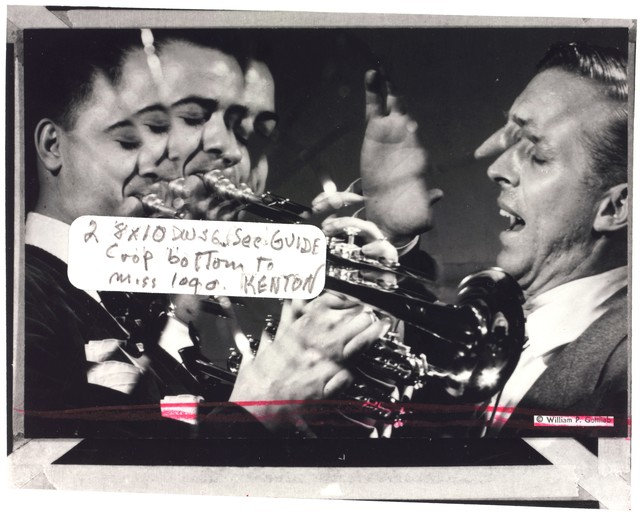 [Portrait of Stan Kenton and Buddy Childers, Richmond, Va., 1947 or 1948]