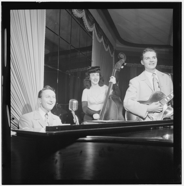 [Portrait of Teddy Kaye, Vivien Garry, and Arv(in) Charles Garrison, Dixon's, New York, N.Y., ca. May 1947]