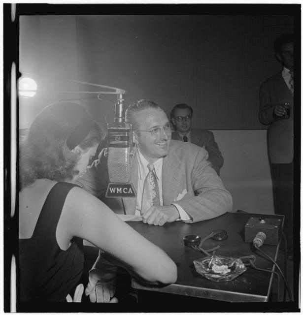 [Portrait of Tommy Dorsey and Beryl Davis, WMCA, New York, N.Y., ca. Oct. 1947]