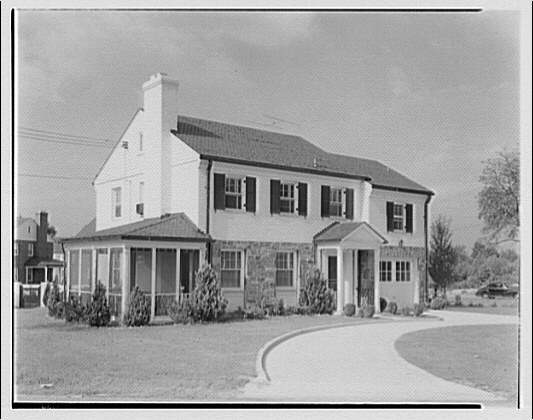 Potomac Electric Power Co. apartments and kitchens. Exterior of house at 103 Ellingson Dr.