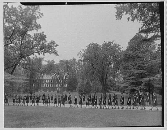 St. Vincent de Paul Institute, 261 S. Broadway, Tarrytown, New York. Children going to classes