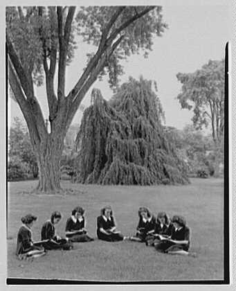 St. Vincent de Paul Institute, 261 S. Broadway, Tarrytown, New York. Girls studying