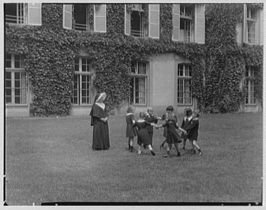 St. Vincent de Paul Institute, 261 S. Broadway, Tarrytown, New York. Kindergarten play