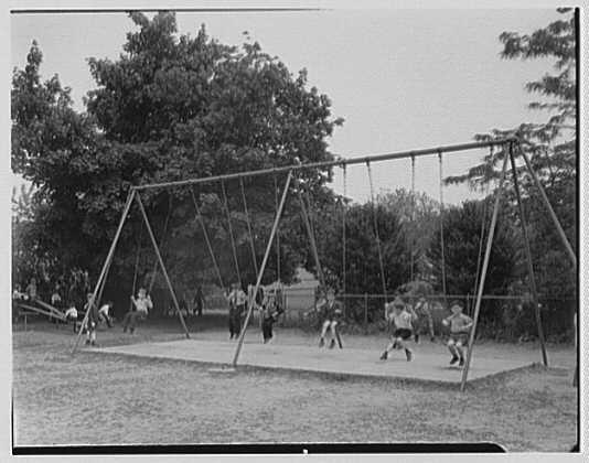 St. Vincent de Paul Institute, 261 S. Broadway, Tarrytown, New York. Swings