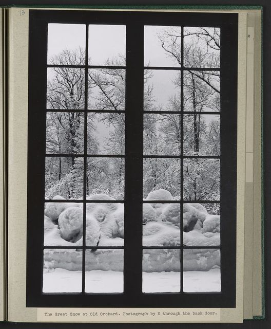 The great snow at Old Orchard / picture by Eleanor B. Roosevelt.