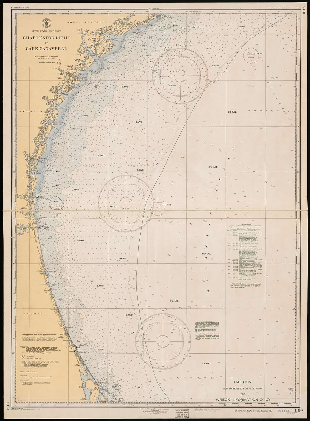 United States, East coast: Charleston Light to Cape Canaveral